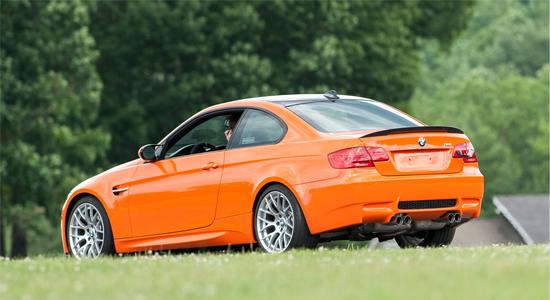 La BMW M3 Lime Rock Edition vue de l'arrière