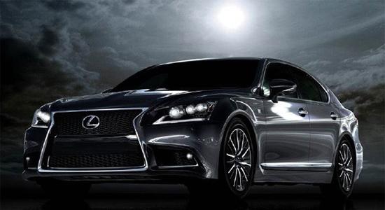L'image de la Lexus LS460 publiée sur facebook