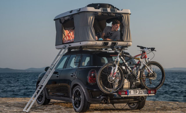 Le concept camping pour Mini Clubvan, Countryman et Clubman